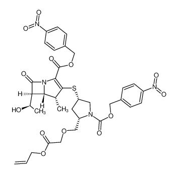 (4R,5S,6S)-3-[(3S,5S)-5-Allyloxycarbonylmethoxymethyl-1-(4-nitro-benzyloxycarbonyl)-pyrrolidin-3-ylsulfanyl]-6-((R)-1-hydroxy-ethyl)-4-methyl-7-oxo-1-aza-bicyclo[3.2.0]hept-2-ene-2-carboxylic acid 4-nitro-benzyl ester