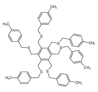 1,2,3,4,5,6-hexakis[(4-methylphenyl)methylsulfanylmethyl]benzene