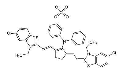 5,5'-二氯-11-二苯基氨基-3,3'-二乙基-10,12-乙烯噻三碳菁高氯酸盐