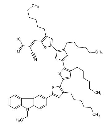 (Z)-2-cyano-3-[5-[5-[5-[5-(9-ethylcarbazol-3-yl)-3-hexylthiophen-2-yl]-3-hexylthiophen-2-yl]-3-hexylthiophen-2-yl]-3-hexylthiophen-2-yl]prop-2-enoic acid