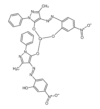 chromium,4-[[4-(dioxidoamino)-6-oxocyclohexa-2,4-dien-1-ylidene]hydrazinylidene]-5-methyl-2-phenylpyrazol-3-one,hydron,5-methyl-4-[(4-nitro-2-oxidophenyl)diazenyl]-2-phenylpyrazol-3-olate