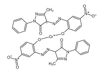 chromium(3+),4-[[3-(dioxidoamino)-6-oxocyclohexa-2,4-dien-1-ylidene]hydrazinylidene]-5-methyl-2-phenylpyrazol-3-one,hydron,5-methyl-4-[(5-nitro-2-oxidophenyl)diazenyl]-2-phenylpyrazol-3-olate