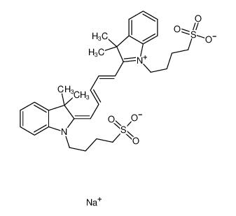 2-[5-[3,3-二甲基-1-(4-磺酸基丁基)-1,3-二氢吲哚-2-亚基]-1,3-戊二烯基]-3,3-二甲基-1-(4-磺酸基丁基)-3H-吲哚鎓内盐钠盐