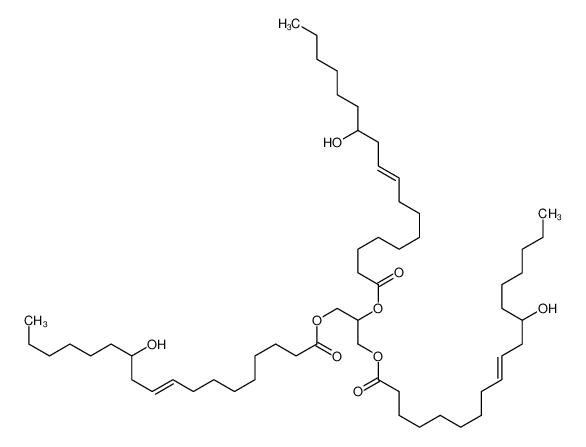 2,3-bis[[(Z)-12-hydroxyoctadec-9-enoyl]oxy]propyl (Z)-12-hydroxyoctadec-9-enoate