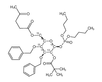 dibutyl 3,4-di-O-benzyl-6-O-levulinoyl-2-O-pivaloyl-[13C6]-D-glucopyranosyl phosphate