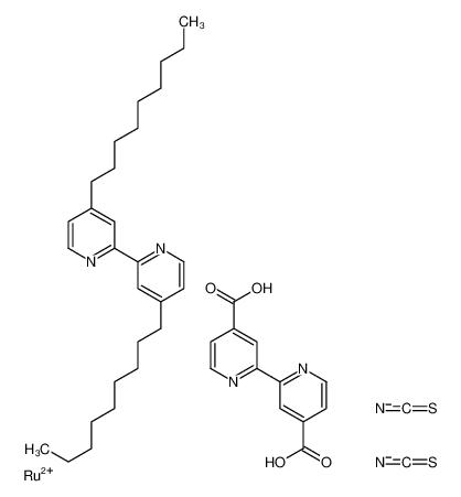 顺式-双(异硫氰基)(2,2'-联吡啶基-4,4'-二羧基)(4,4'-二-壬基-2'-联吡啶基)钌(II)