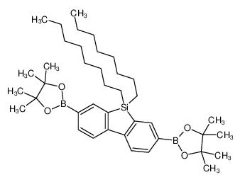 2-[5,5-dioctyl-3-(4,4,5,5-tetramethyl-1,3,2-dioxaborolan-2-yl)benzo[b][1]benzosilol-7-yl]-4,4,5,5-tetramethyl-1,3,2-dioxaborolane
