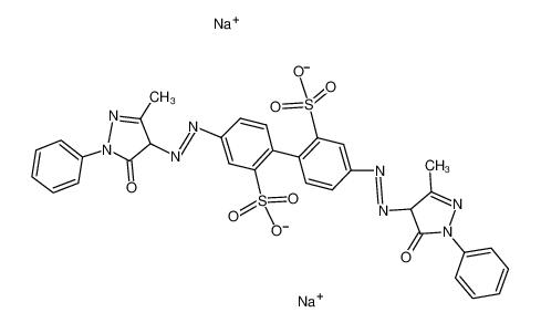 disodium,5-[(3-methyl-5-oxo-1-phenyl-4H-pyrazol-4-yl)diazenyl]-2-[4-[(3-methyl-5-oxo-1-phenyl-4H-pyrazol-4-yl)diazenyl]-2-sulfonatophenyl]benzenesulfonate