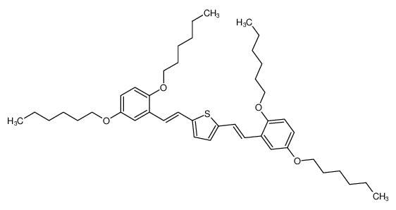 Thiophene, 2,5-bis[(1E)-2-[2,5-bis(hexyloxy)phenyl]ethenyl]-