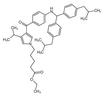 5-[3-(4-{[Bis-(4-isobutyl-phenyl)-methyl]-amino}-benzoyl)-4-isopropyl-pyrrol-1-yl]-pentanoic acid ethyl ester