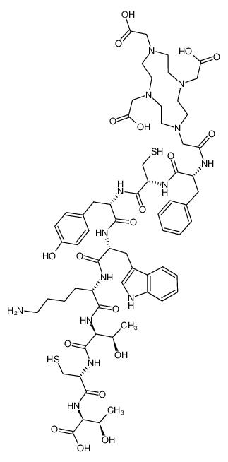 N-[[4,7,10-三(羧甲基)-1,4,7,10-四氮杂环十二碳-1-基]乙酰基]-D-苯丙氨酰-L-半胱氨酰-L-酪氨酰-D-色氨酰-L-赖氨酰-L-苏氨酰-L-半胱氨酰-L-苏氨酸环(2→7)-二硫醚乙酸盐