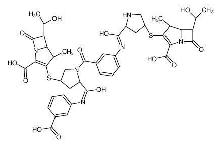 (4R,5S,6S)-3-[(3S,5S)-5-[[3-[(2S,4S)-4-[[(4R,5S,6S)-2-carboxy-6-[(1R)-1-hydroxyethyl]-4-methyl-7-oxo-1-azabicyclo[3.2.0]hept-2-en-3-yl]sulfanyl]-2-[(3-carboxyphenyl)carbamoyl]pyrrolidine-1-carbonyl]phenyl]carbamoyl]pyrrolidin-3-yl]sulfanyl-6-[(1R)-1-hydro