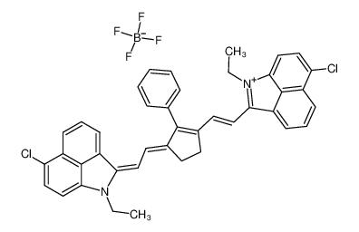 6-氯-2-[2-(3-[(6-氯-1-乙基苯并[c,d,]吲哚-2[1H]-亚基)乙亚基]-2-苯基-1-环戊烯-1-基)乙烯基]-1-乙基苯并[c,d]吲哚鎓四氟硼酸盐
