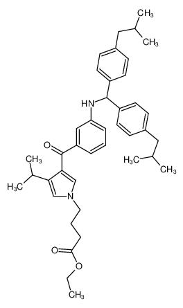 4-[3-(3-{[Bis-(4-isobutyl-phenyl)-methyl]-amino}-benzoyl)-4-isopropyl-pyrrol-1-yl]-butyric acid ethyl ester
