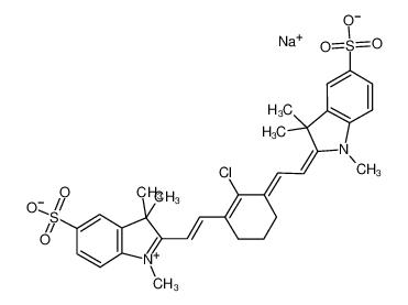 2-[2-[2-氯-3-[(1,3-二氢-1,3,3-三甲基-5-磺酸基-2H-吲哚-2-亚基)乙亚基]-1-环己烯-1-基]乙烯基]-1,3,3-三甲基-5-磺酸基-3H-吲哚内盐钠盐
