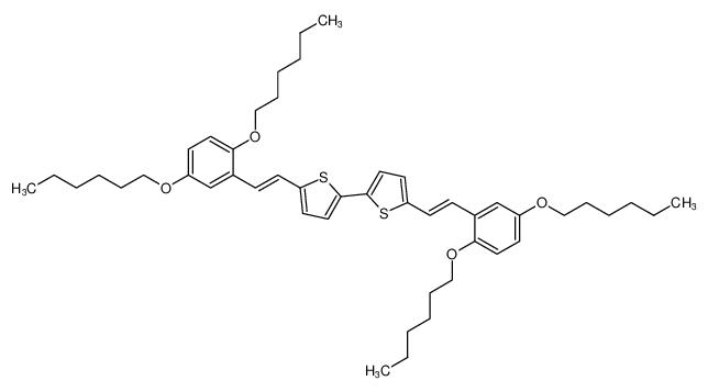 2,2'-Bithiophene, 5,5'-bis[(1E)-2-[2,5-bis(hexyloxy)phenyl]ethenyl]-
