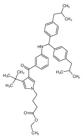 4-[3-(3-{[Bis-(4-isobutyl-phenyl)-methyl]-amino}-benzoyl)-4-tert-butyl-pyrrol-1-yl]-butyric acid ethyl ester