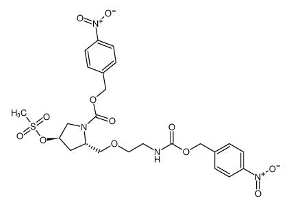 4-nitrobenzyl (2S,4R)-4-((methylsulfonyl)oxy)-2-((2-((((4-nitrobenzyl)oxy)carbonyl)amino)ethoxy)methyl)pyrrolidine-1-carboxylate