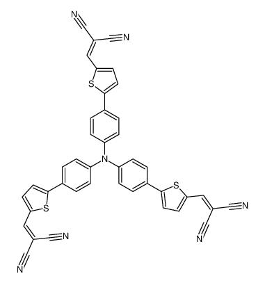 2-[[5-[4-[4-[5-(2,2-dicyanoethenyl)thiophen-2-yl]-N-[4-[5-(2,2-dicyanoethenyl)thiophen-2-yl]phenyl]anilino]phenyl]thiophen-2-yl]methylidene]propanedinitrile