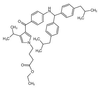4-[3-(4-{[Bis-(4-isobutyl-phenyl)-methyl]-amino}-benzoyl)-4-isopropyl-pyrrol-1-yl]-butyric acid ethyl ester