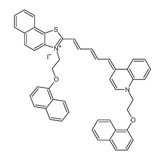 Naphtho[2,1-d]thiazolium,3-[2-(1-naphthalenyloxy)ethyl]-2-[5-[1-[2-(1-naphthalenyloxy)ethyl]-4(1H)-quinolinylidene]-1,3-pentadienyl]-, iodide