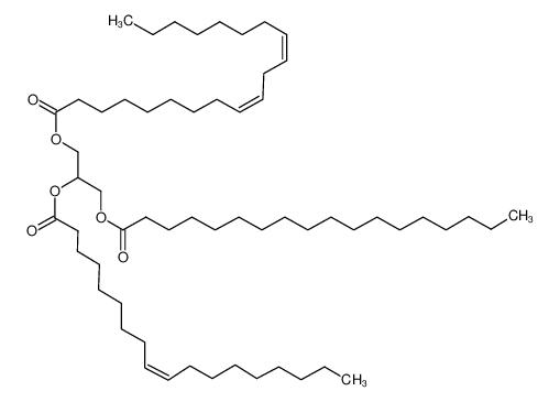 2-[(9E)-9-十八碳烯酰基氧基]-3-(硬脂酰氧基)丙基 (9E,12E)-9,12-十八碳二烯酸酯